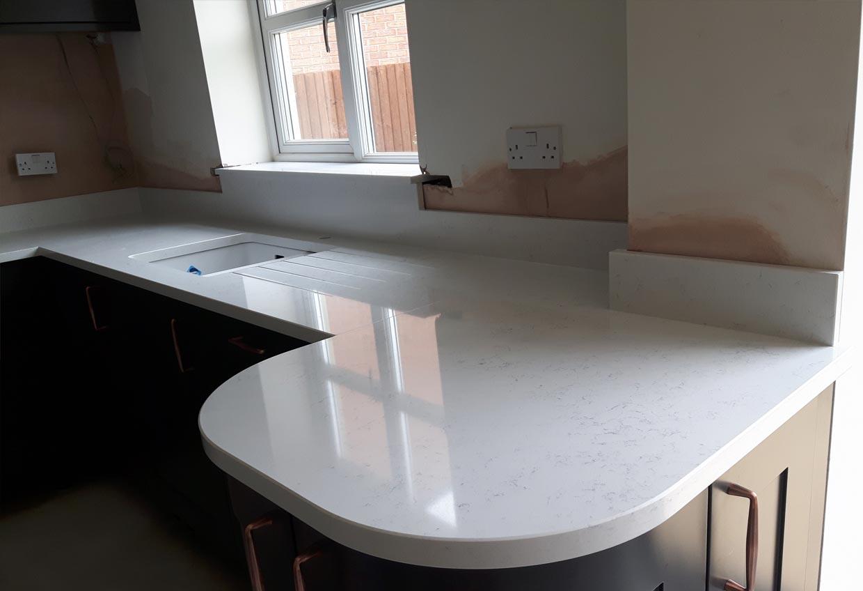 Quartz Kitchen Worktop Stamford Natura Surfaces